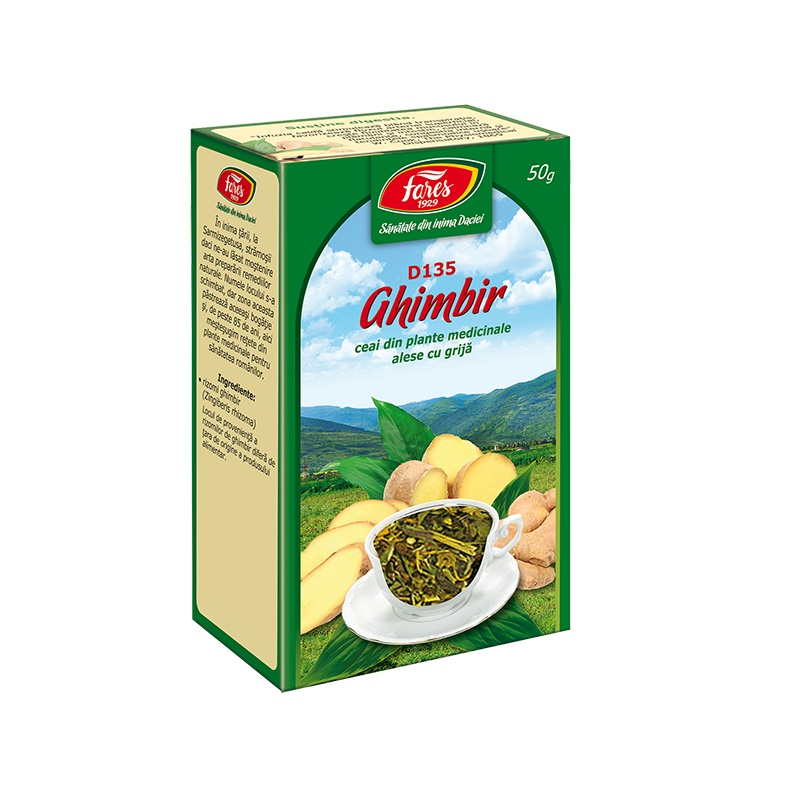 Ceai de Ghimbir, D135, 50 g, Fares