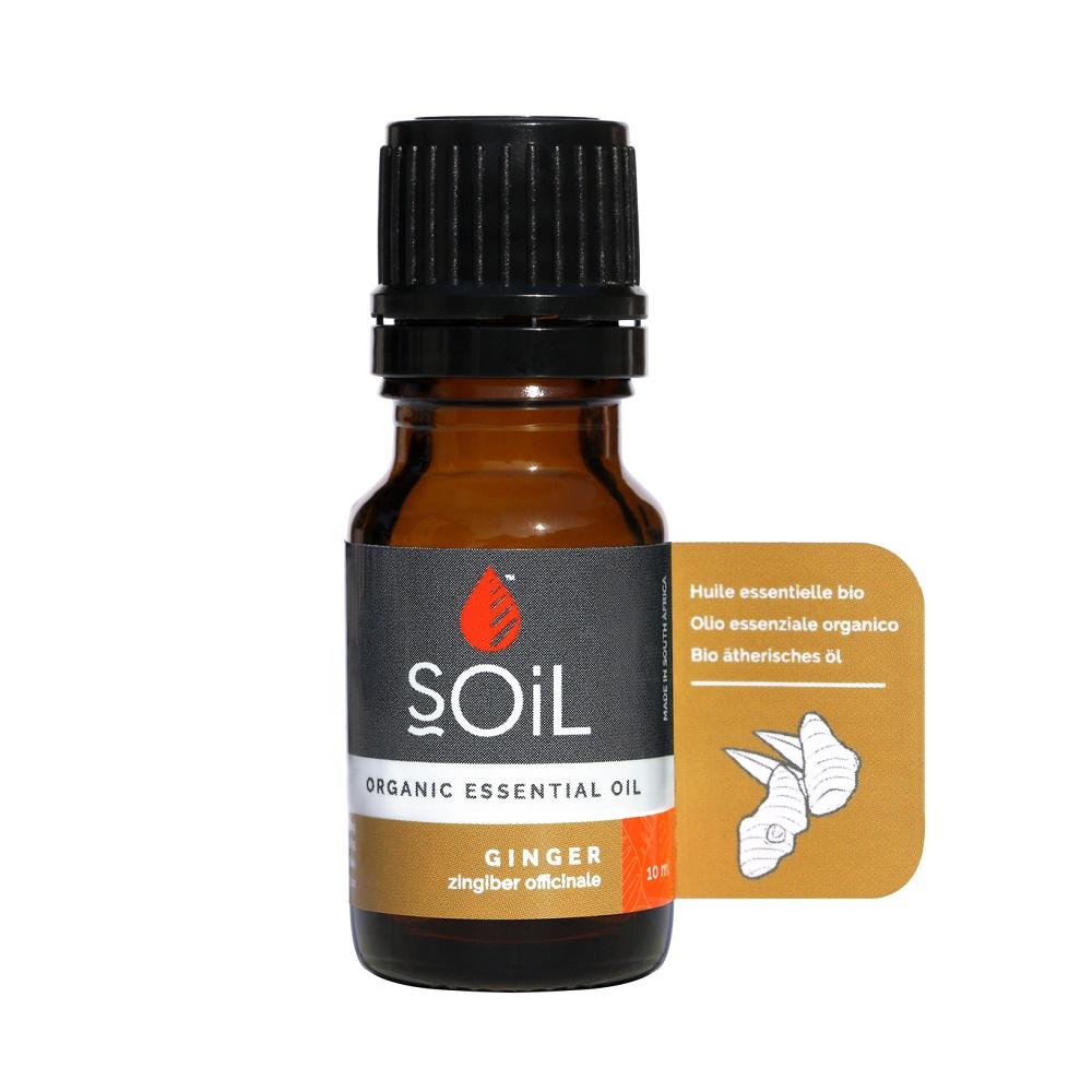 Ulei Esențial Ghimbir Pur 100% Organic, 10 ml, SOiL