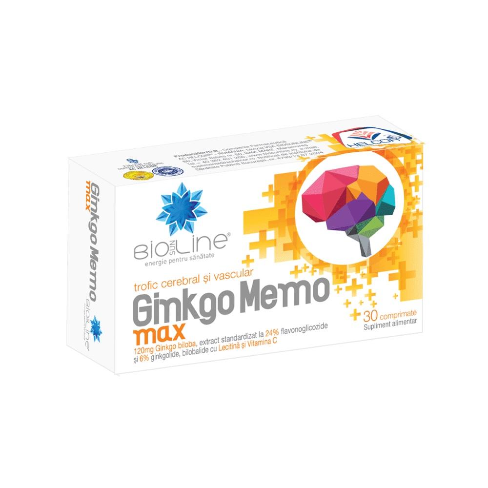 Ginkgo Memo Max, 30 comprimate, Helcor
