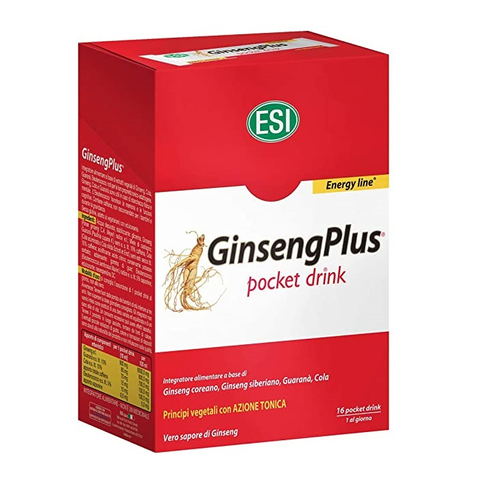 GinsengPlus Pocket Drink, 16 plicuri, Esi Spa