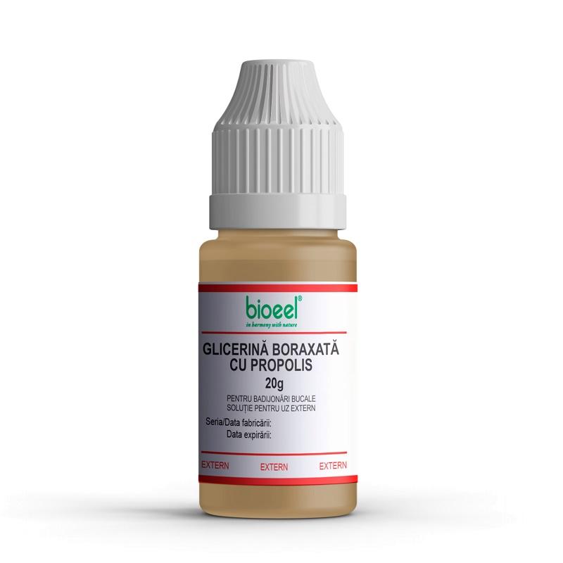 Glicerină boraxată cu propolis, 20 g, Bioeel