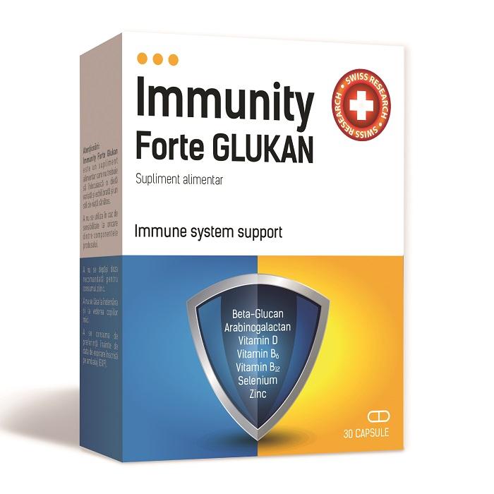 Glukan Immunity Forte, 30 capsule, Mba Pharma