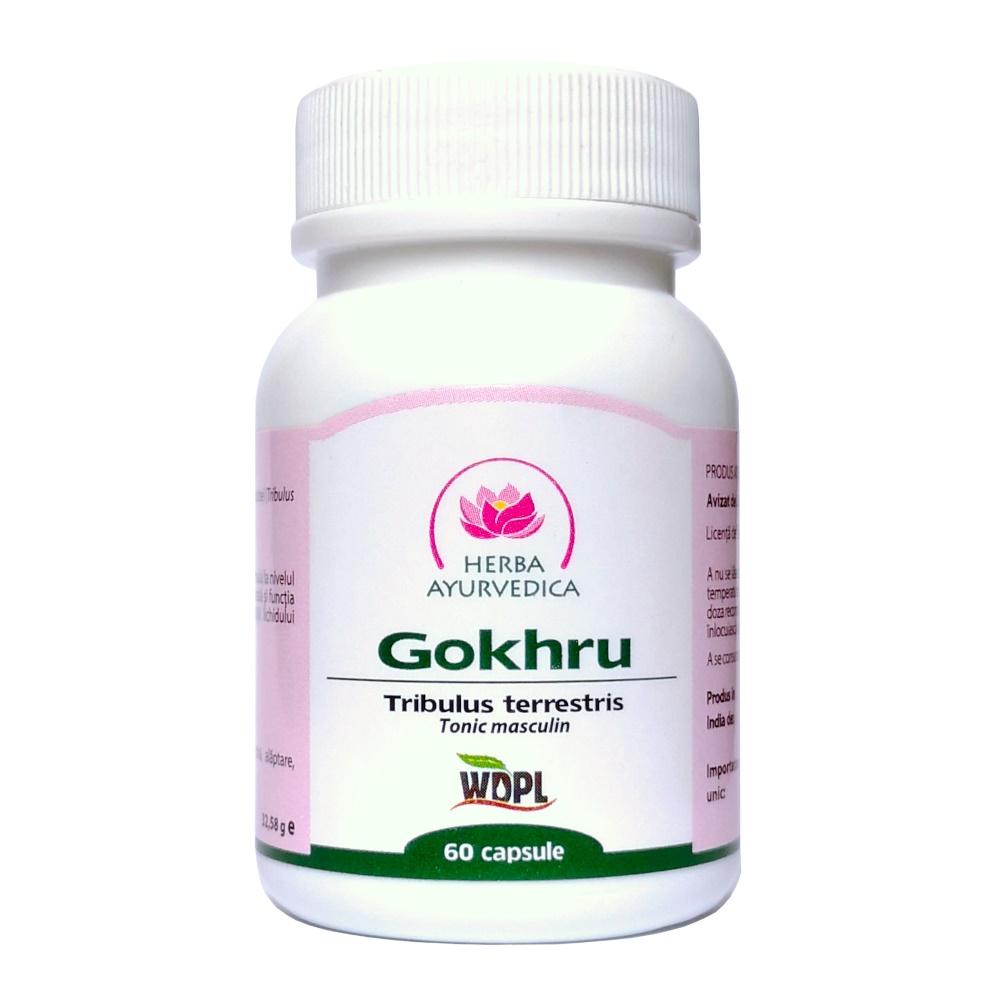 Gokhru, tonic masculin, 60 capsule, Herba Ayurvedica