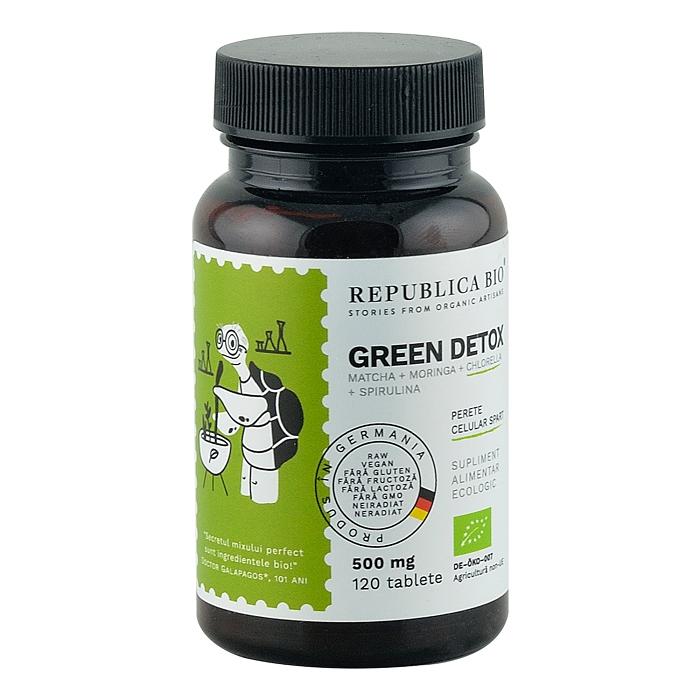 Green detox, 120 tablete, Republica Bio