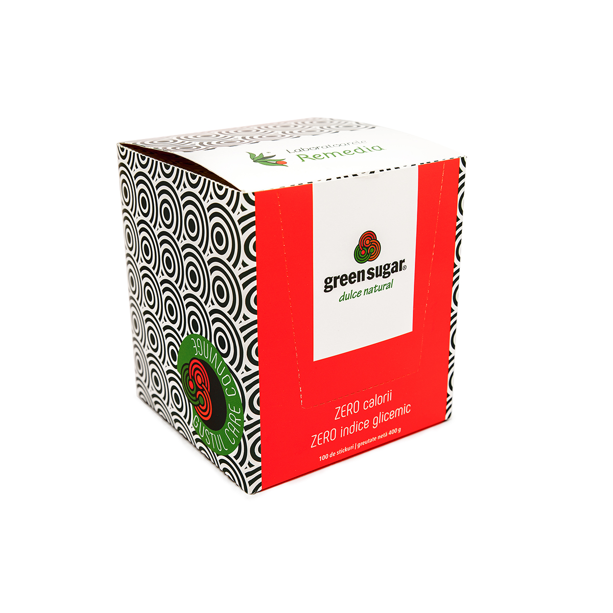 Green Sugar îndulcitor natural, 100 stickuri x 4g, Remedia