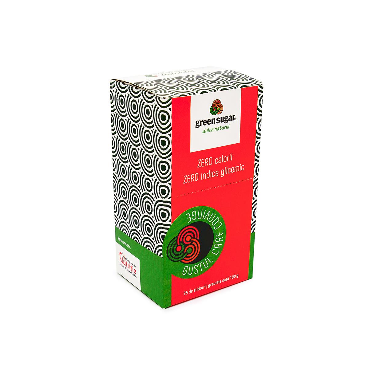 Îndulcitor natural, Green Sugar, 25 sticks, Remedia