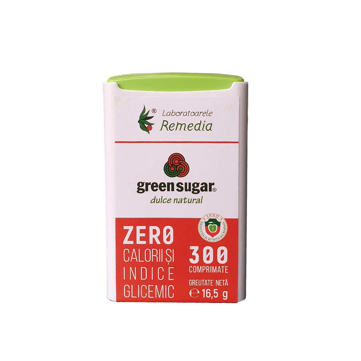Green Sugar Dispenser, 300 comprimate, Remedia