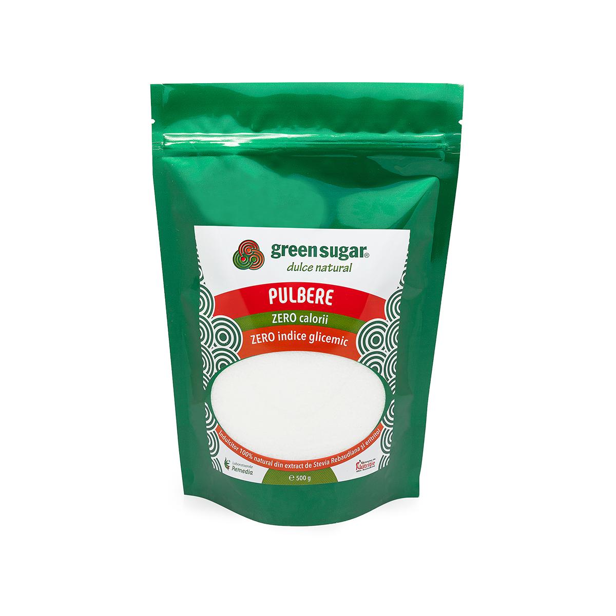 Îndulcitor pulbere Green Sugar, 500g, Remedia