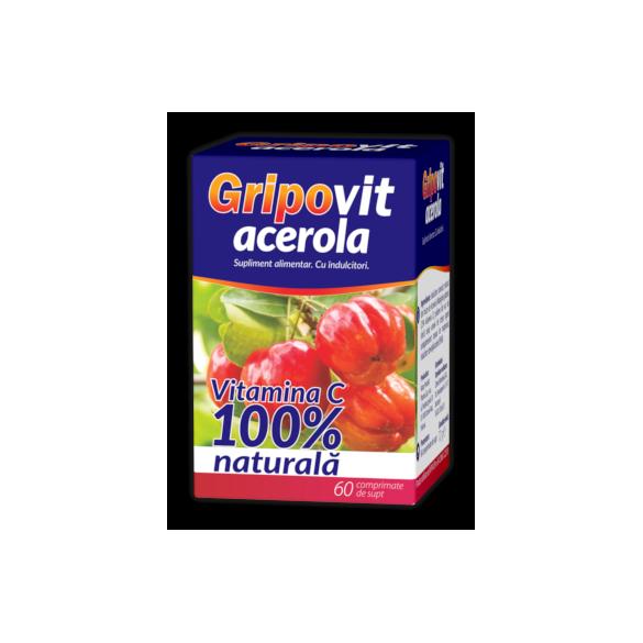 Gripovit Acerola, 60 comprimate de supt, Zdrovit