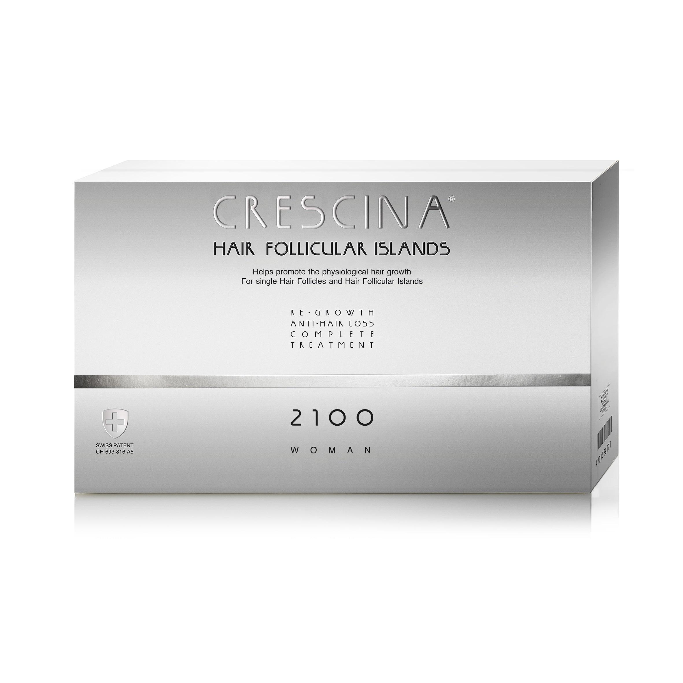Tratament complet pentru stadii avansate de cădere și rărire a părului la femei Crescina Follicular Islands 2100, 10 + 10 fiole, Labo