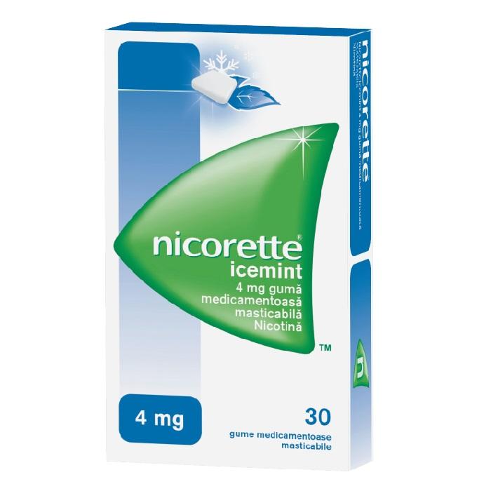 Guma Nicorette IceMint, 30 bucati, Mcneil