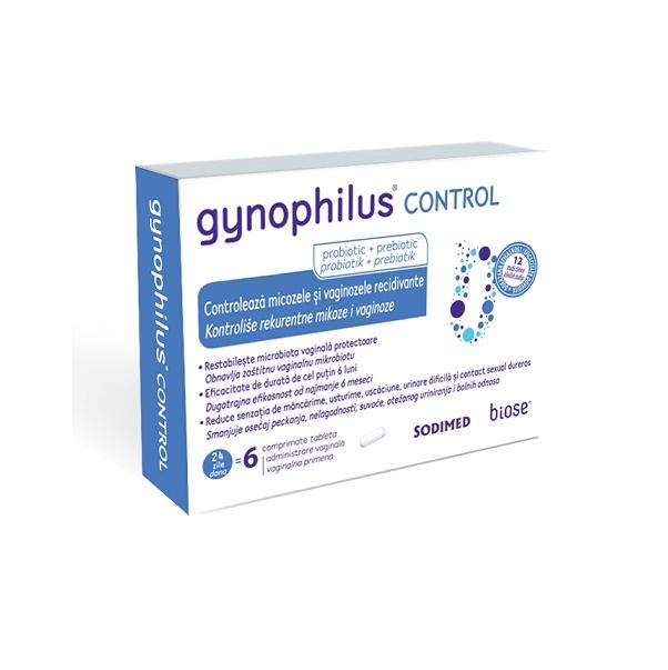 Gynophilus Control, 6 comprimate vaginale, Biose