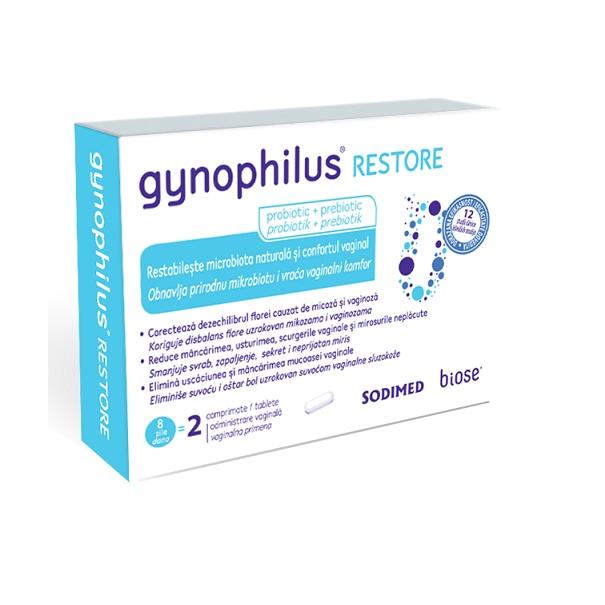 Gynophilus Restore, 2 comprimate, Biose