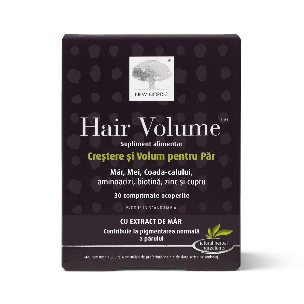 Hair Volume crestere si volum pentru par cu extract de mar , 30 tablete, New Nordic