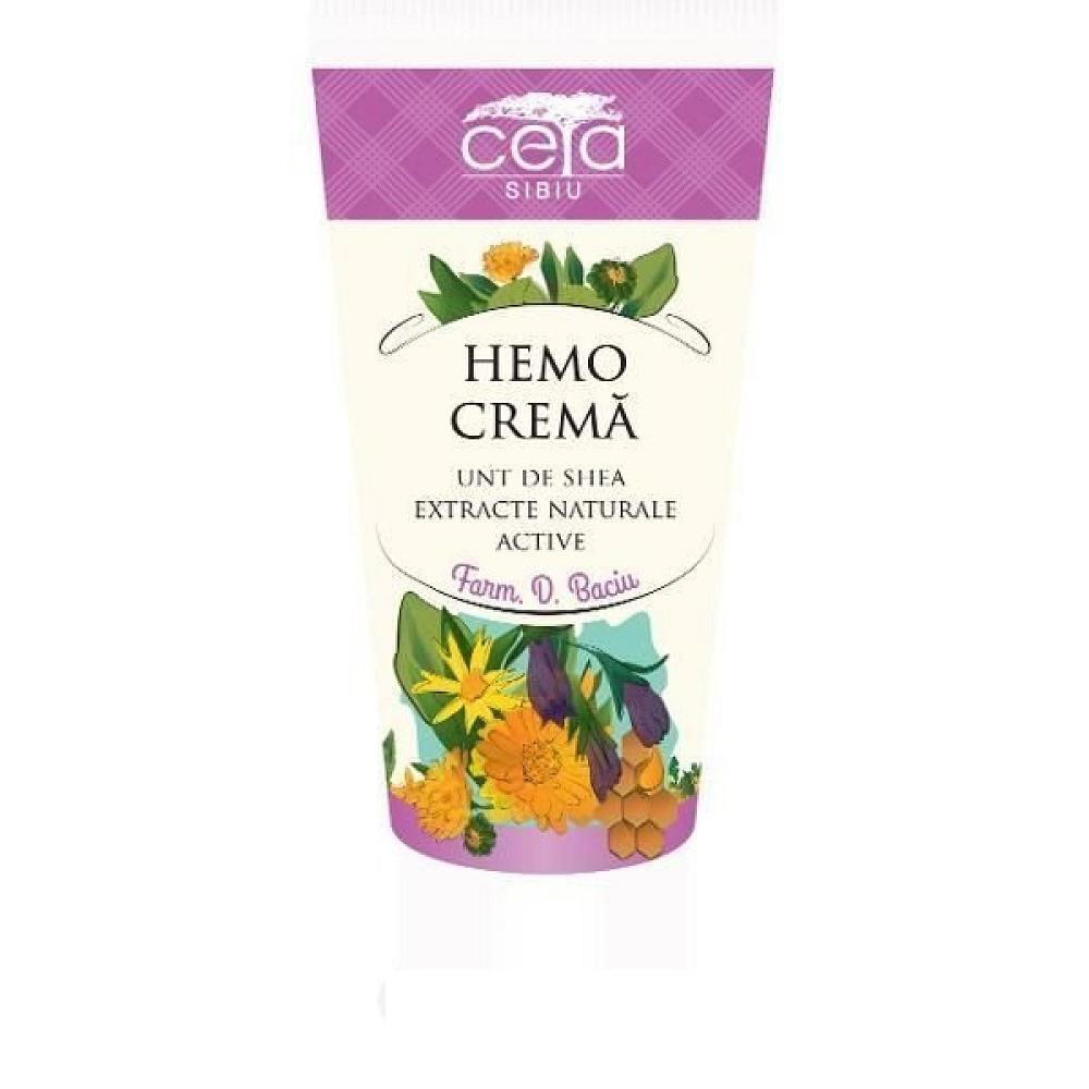 Hemo, cremă cu unt de shea și extracte naturale active, 50 ml, Ceta Sibiu