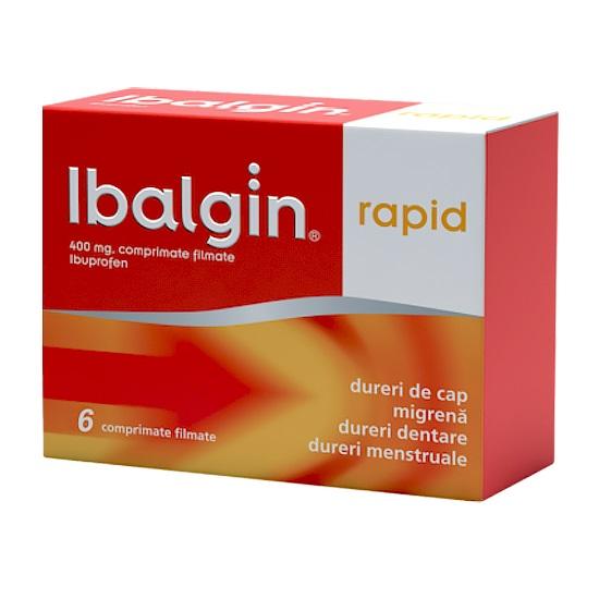 Ibalgin Rapid 400 mg, 6 comprimate, Zentiva