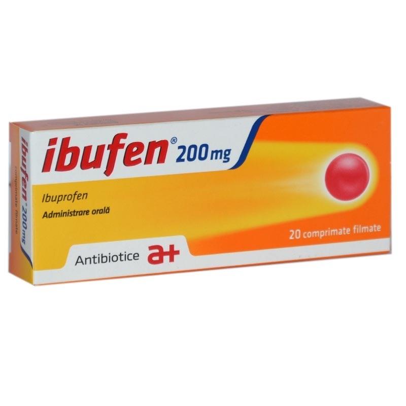 Ibufen, 200 mg, 20 comprimate filmate, Antibiotice SA