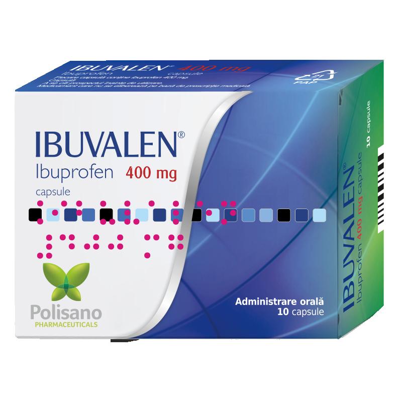 Ibuvalen 400 mg, 10 capsule, Polisano