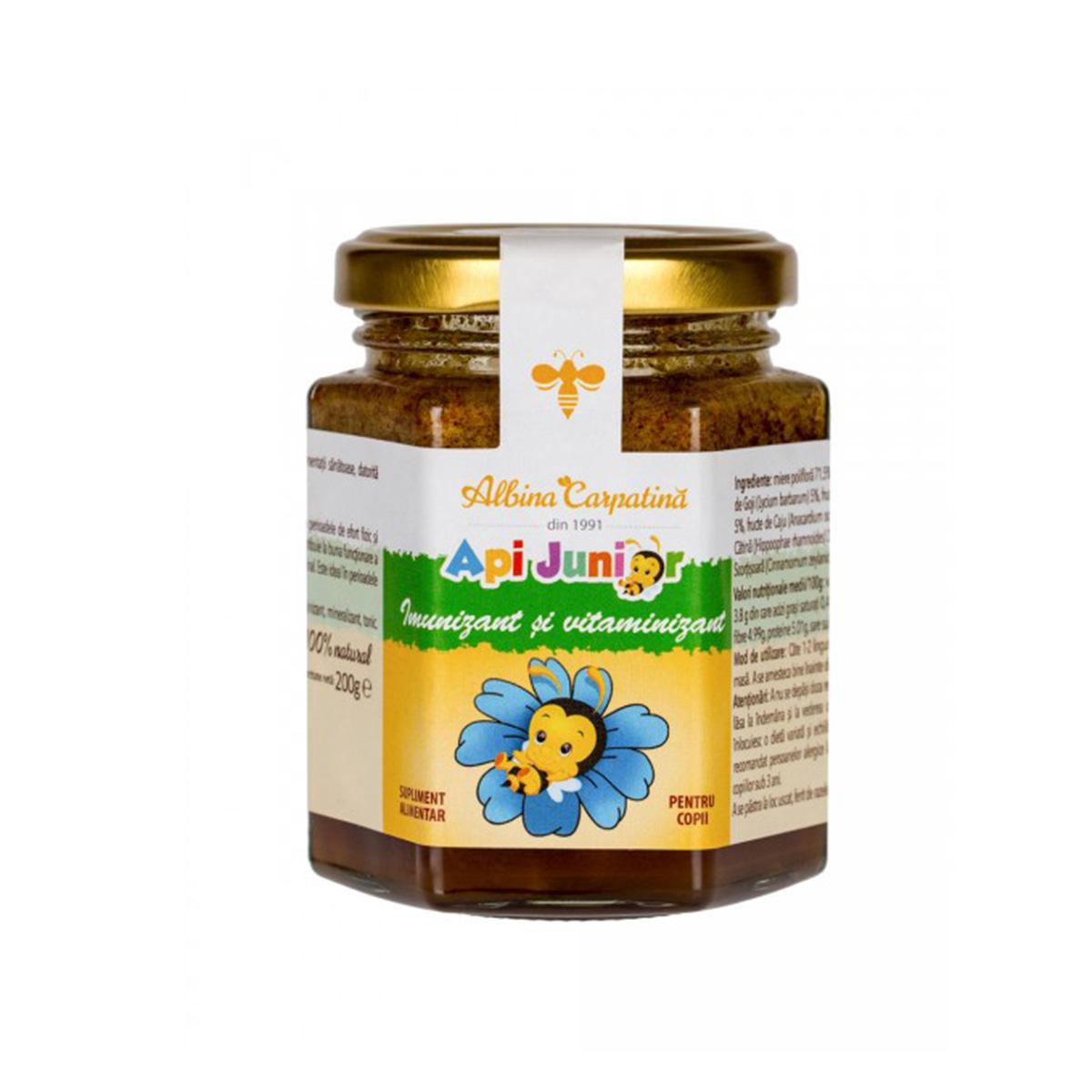 Imunizant și vitaminizant ApiJunior Albina Carpatină, 200 g, Apicola Pastoral Georgescu