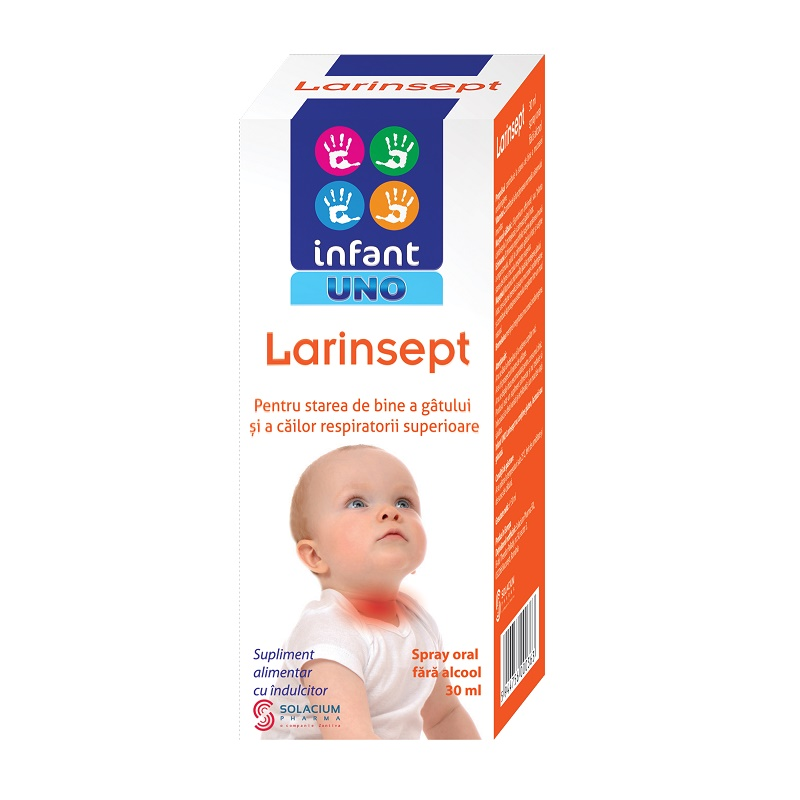 Spray oral Infant Uno Larinsept, 30 ml, Solacium