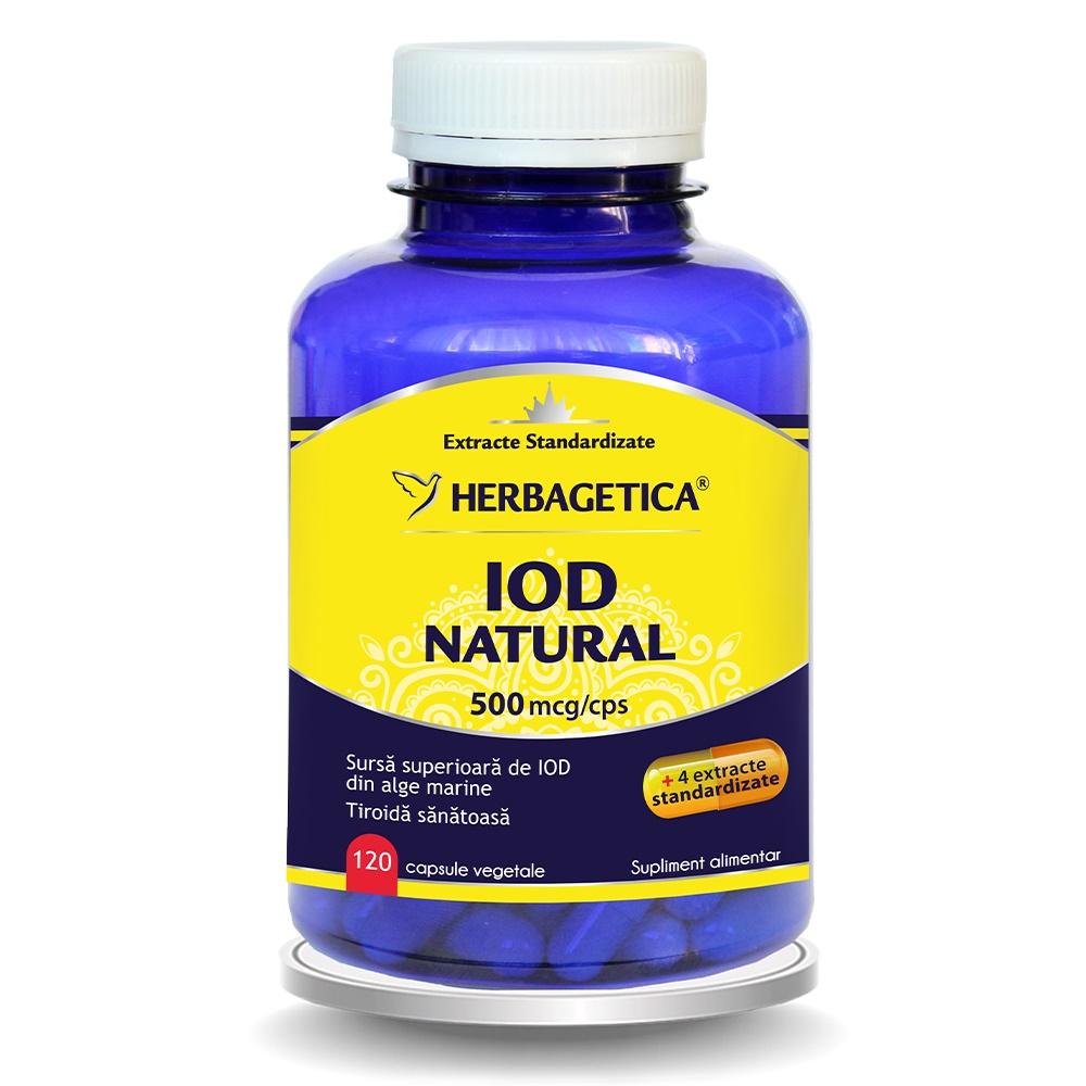 Iod Natural 500mcg, 120 capsule, Herbagetica
