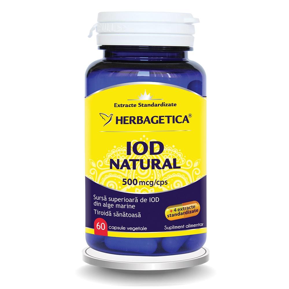 Iod Natural 500mcg, 60 capsule, Herbagetica