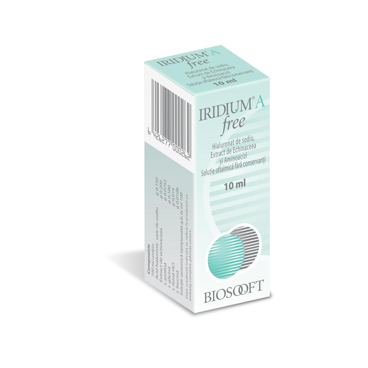 Iridium A Free soluție oftalmică, 10 ml, BioSooft Italia