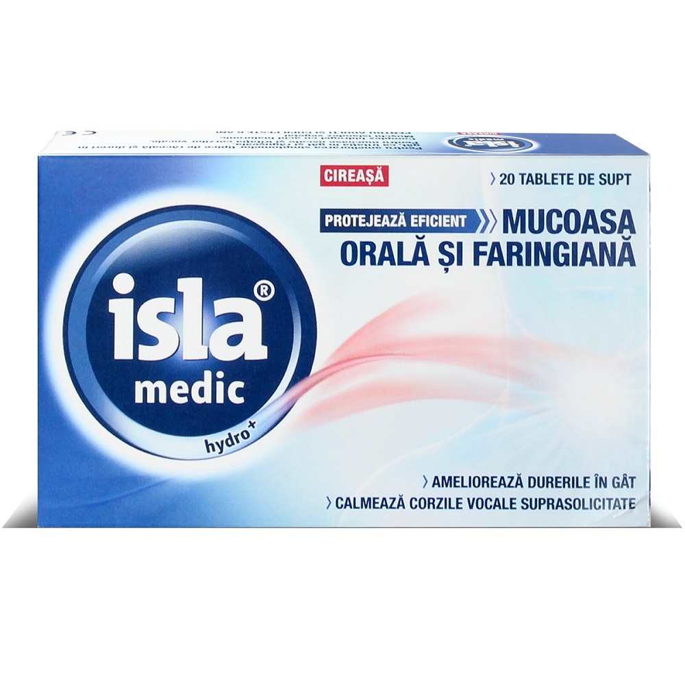 Isla medic Hydro cu aroma de cirese, 20 tablete de supt, Engelhard Arzneimittel