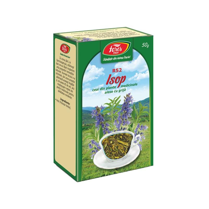 Ceai Isop iarba, R52, 50 g, Fares