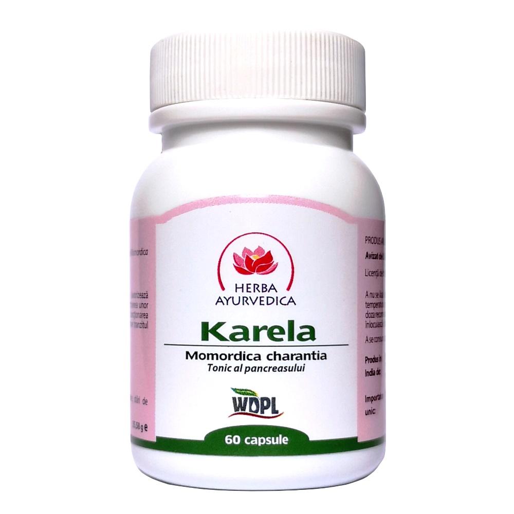 Karela,tonic al pancreasului, 60 capsule, Herba Ayurvedica