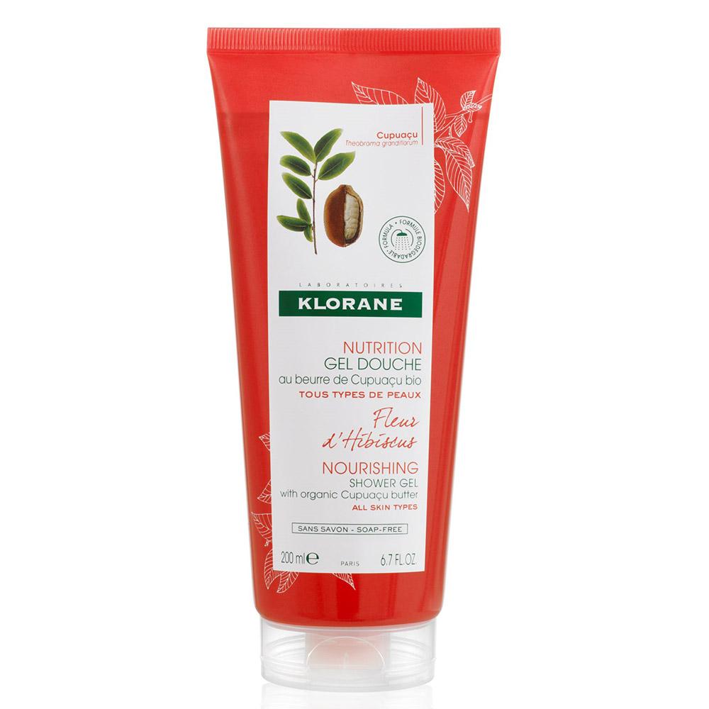 Gel de duș cu floare de hibiscus Nutrition, 200 ml, Klorane