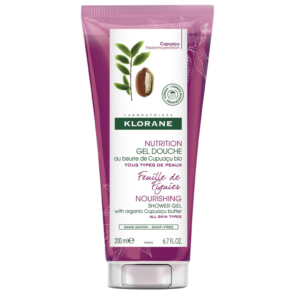 Gel de duș cu frunză de smochin Nutrition, 200 ml, Klorane