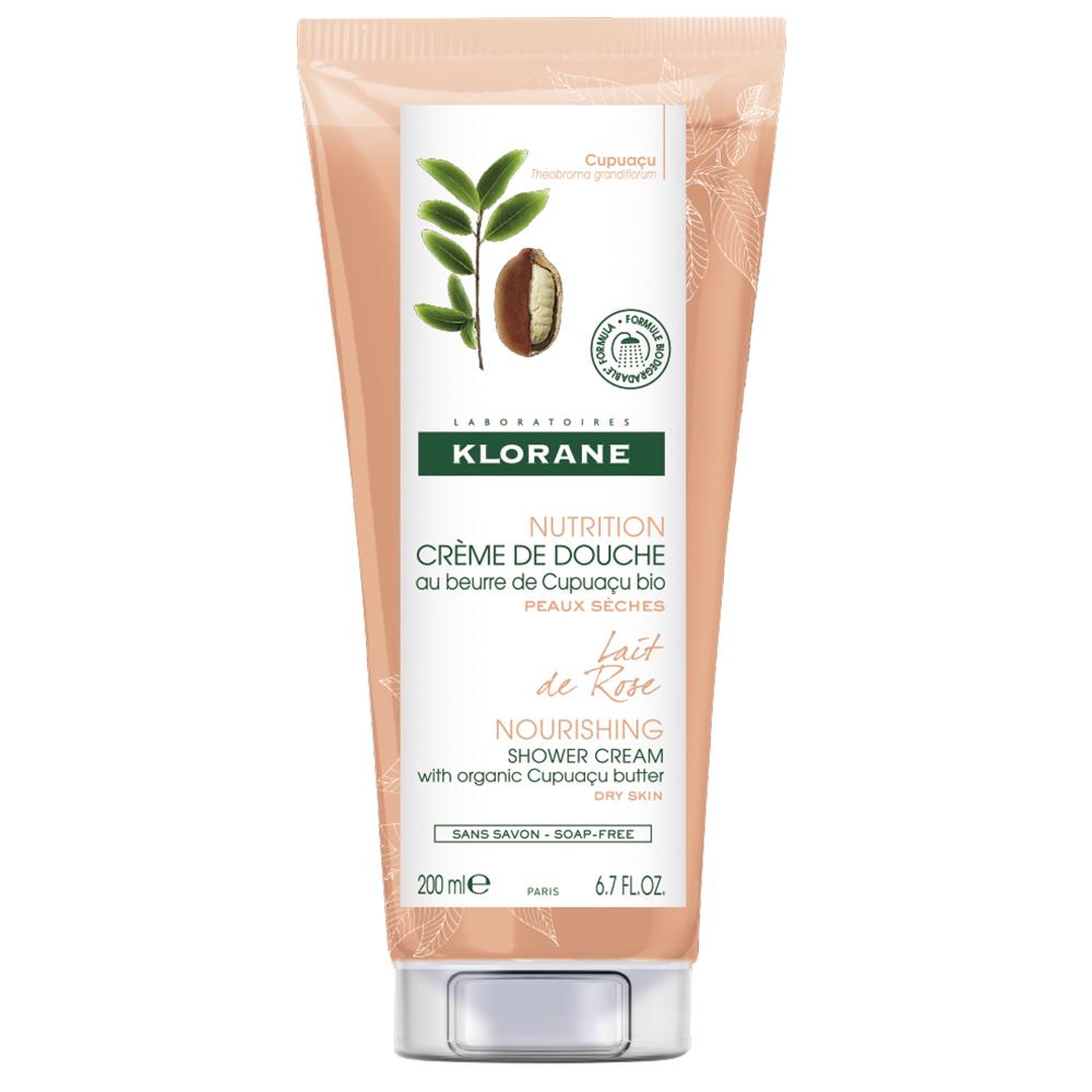 Cremă de duș hrănitoare cu lapte de trandafir Nutrition, 200 ml, Klorane