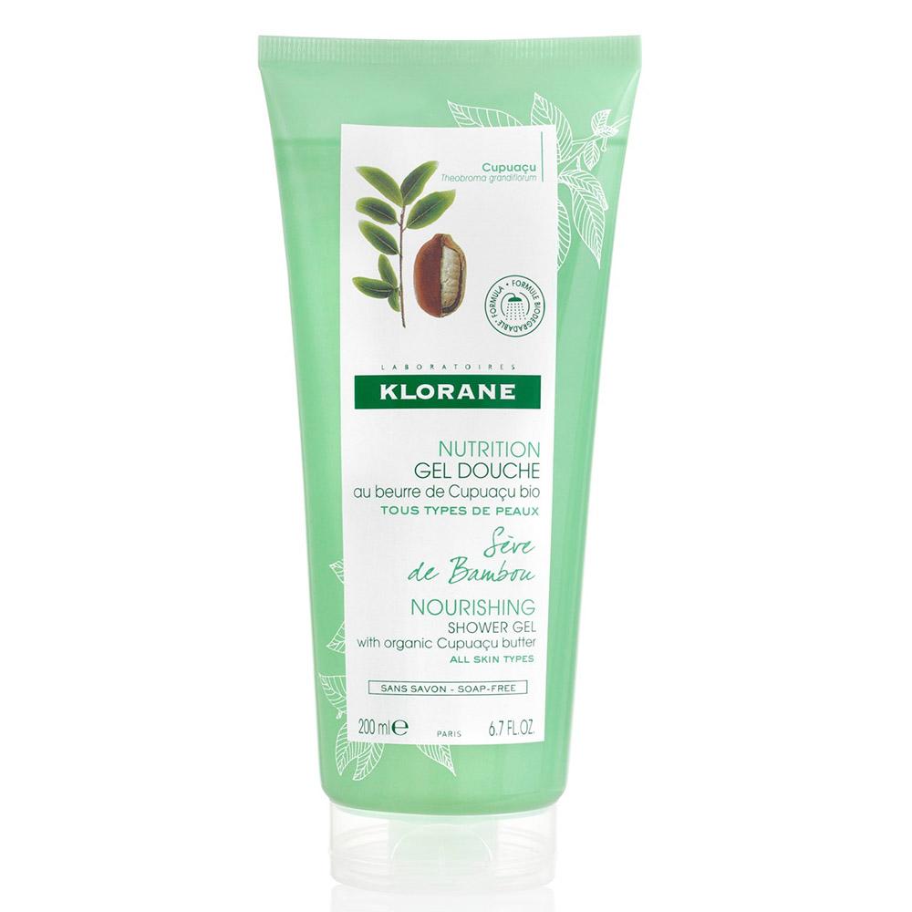Gel de duș cu sevă de bambus Nutrition, 200 ml, Klorane