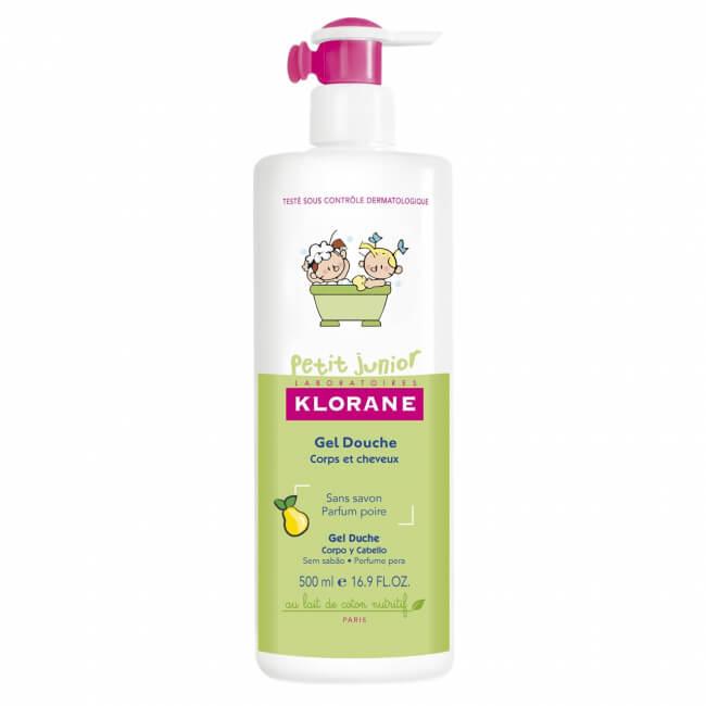 Gel de duș cu aromă de pere, 500 ml, Klorane Junior