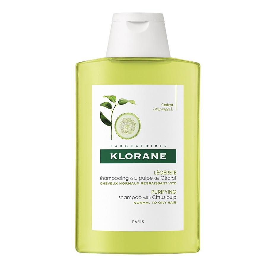 Șampon cu pulpă de citrice pentru păr cu tendință de îngrășare, 200 ml, Klorane