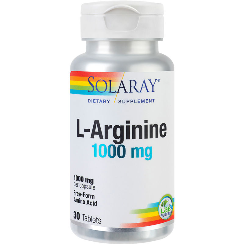 L-Arginine 1000 mg Solaray, 30 tablete, Secom