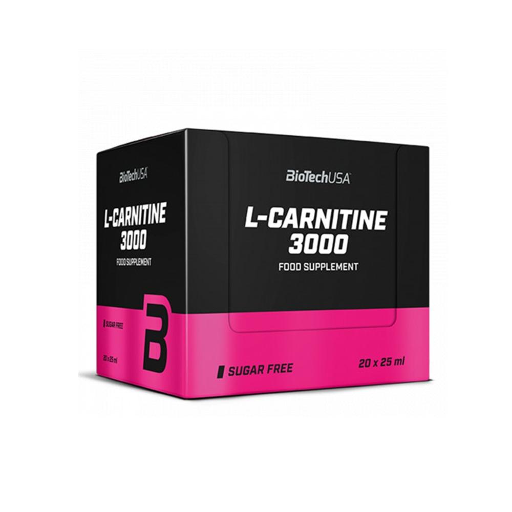 L-Carnitine 3000 cu aroma de portocala, 20 fiole, Biotech USA