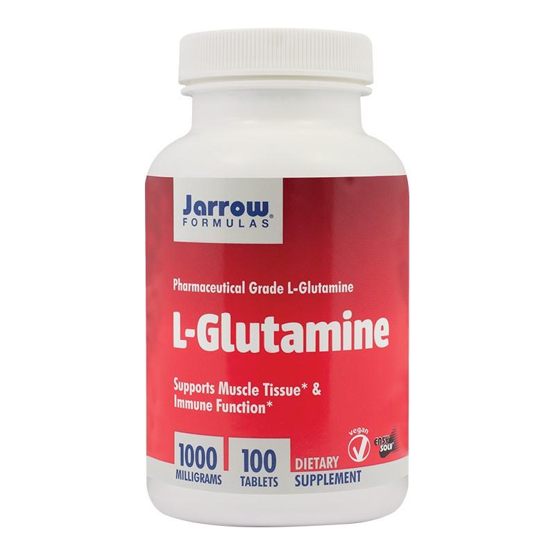 L-Glutamine 1000mg, Jarrow Formulas, 100 tablete, Secom