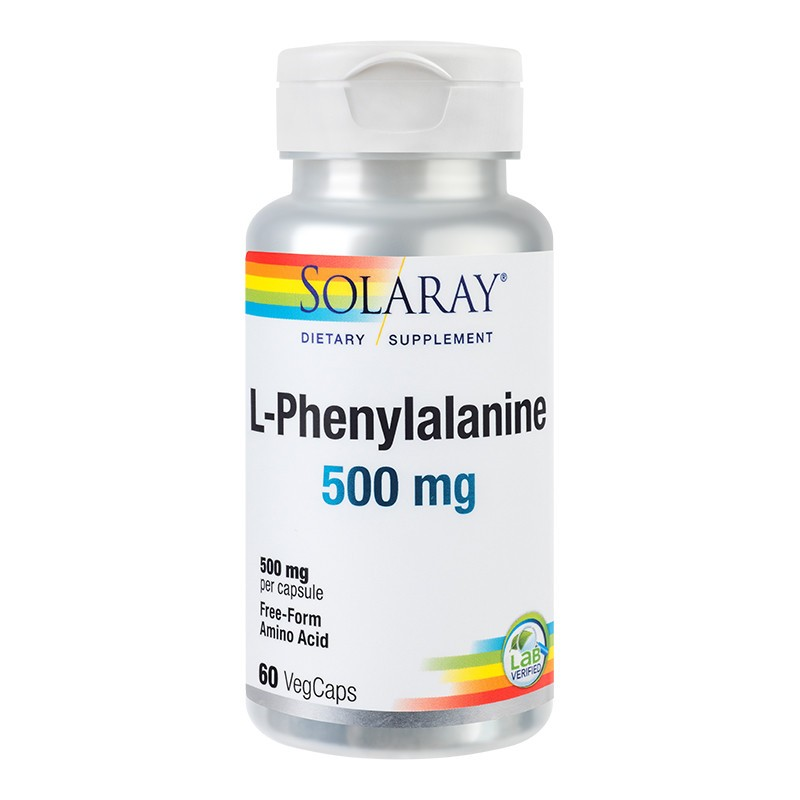 L-Phenylalanine 500mg Solaray, 60 capsule, Secom