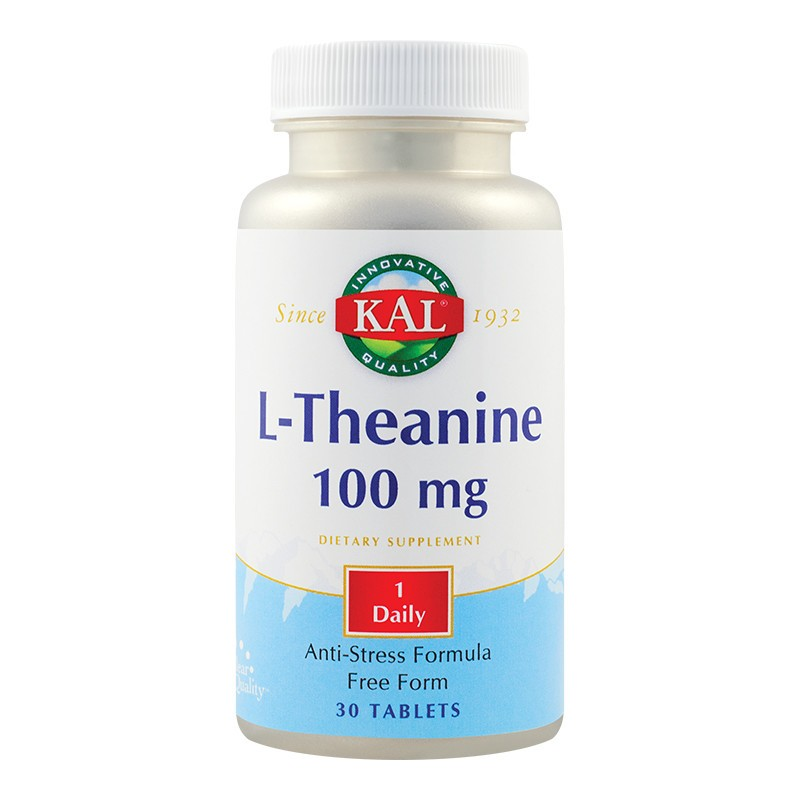 L-Theanine 100mg Kal, 30 tablete, Secom