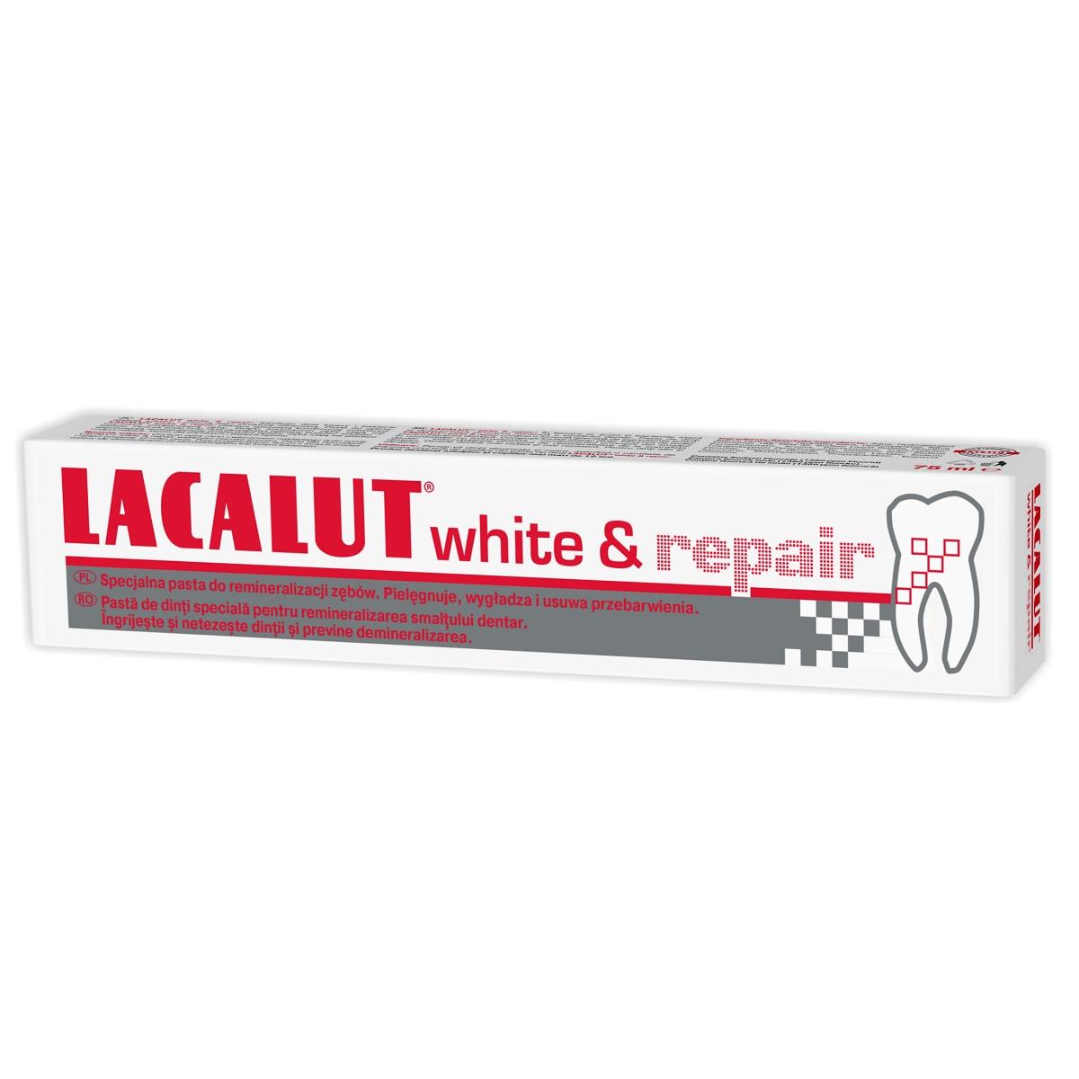 Pastă de dinți medicinală Lacalut White Repair, 75 ml, Theiss Naturwaren