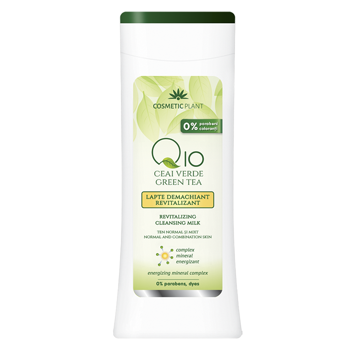 Lapte corp revitalizant Q10, ceai verde si complex mineral energizant, 200 ml, Cosmetic Plant