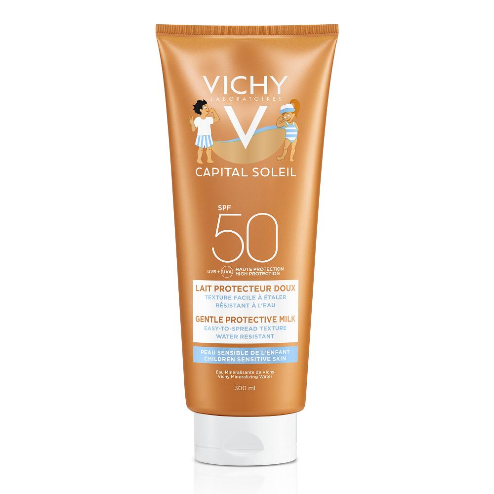 Lapte hidratant pentru copiicu SPF 50+ Capital Soleil, 300 ml,Vichy