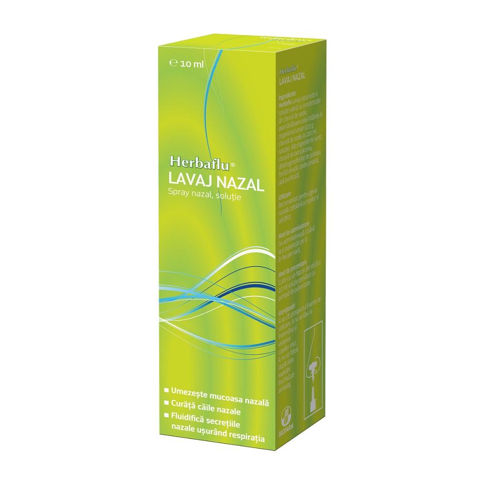 Lavaj nazal, Herbaflu, 10 ml, Biofarm