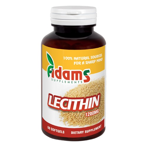 Lecithin 1200 mg, 60 capsule, Adams Vision