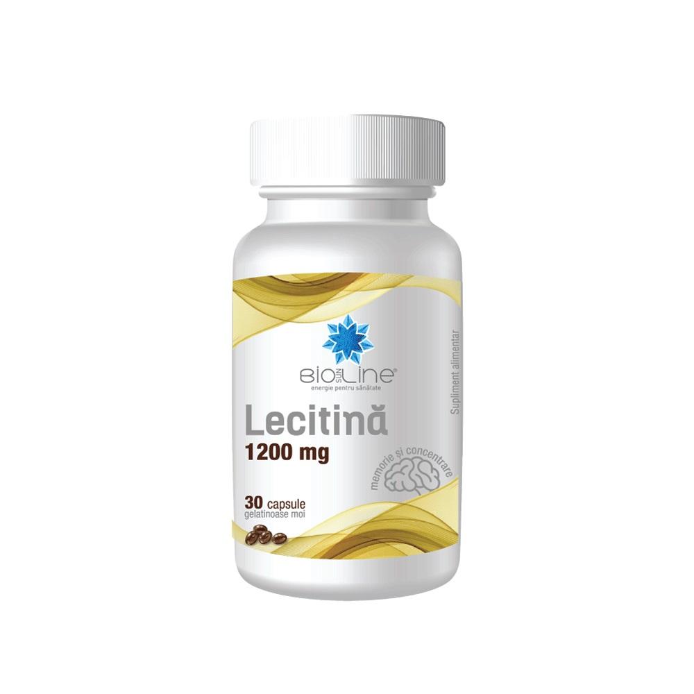 Lecitina, 1200 mg BioSunLine, 30 capsule, Helcor