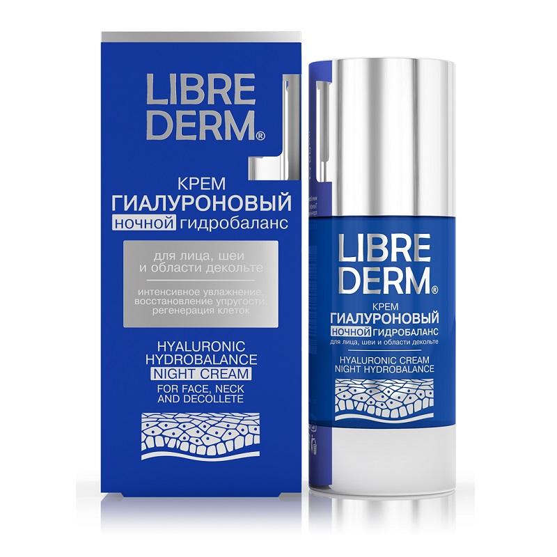 Cremă de noapte hidratantă cu Acid Hialuronic, Night Hydrobalance, 50ml, Libre Derm