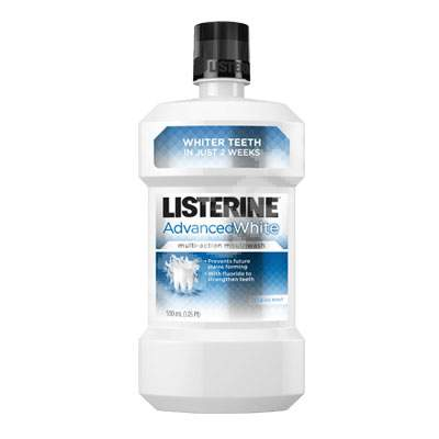 Apă de gură Listerine Advanced White, 500 ml, Johnson & Johnson