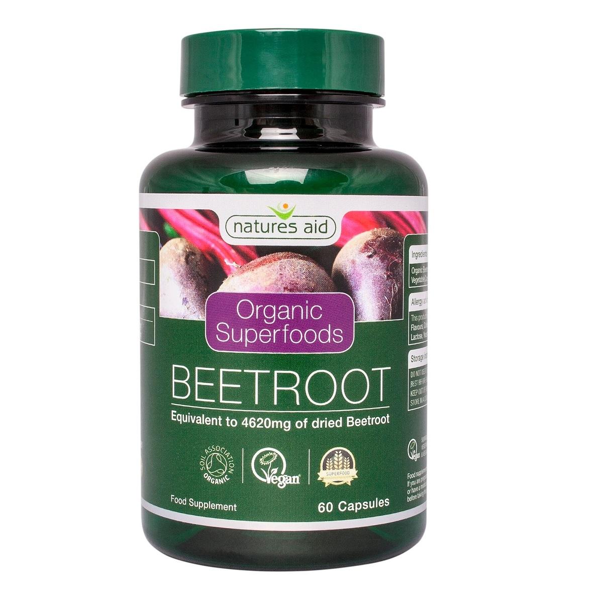 Organic Beetroot (sfeclă roșie organică) , 60 capsule, Natures Aid
